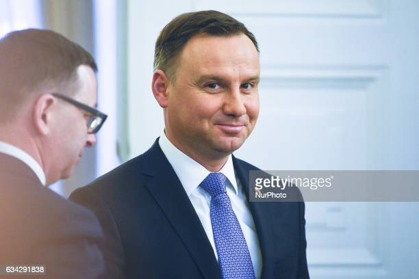 The President of Poland Andrzej Duda arrives for the appointment of the new Commander of the Armed Forces General Jaroslaw Mice and removed the...