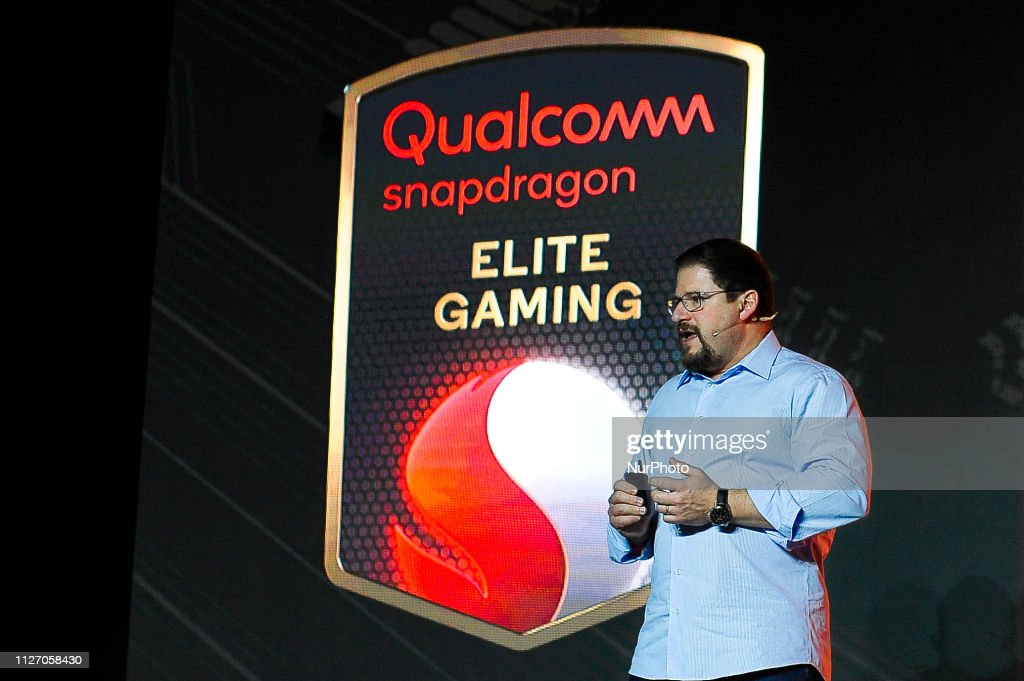 The president of Qualcomm, Cristiano Amon, talking about