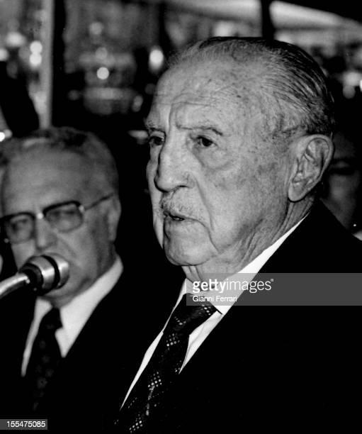 The President of Real Madrid Santiago Bernabeu Madrid Castilla La Mancha Spain