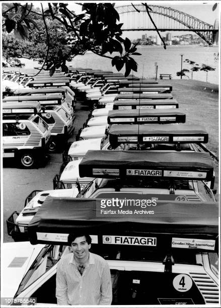The President of Safariland Tour Operators is pictured here with the Fiat at Mrs Macquaries Chair His name is Andrea FerriMacquaries Chair 50 Panda...