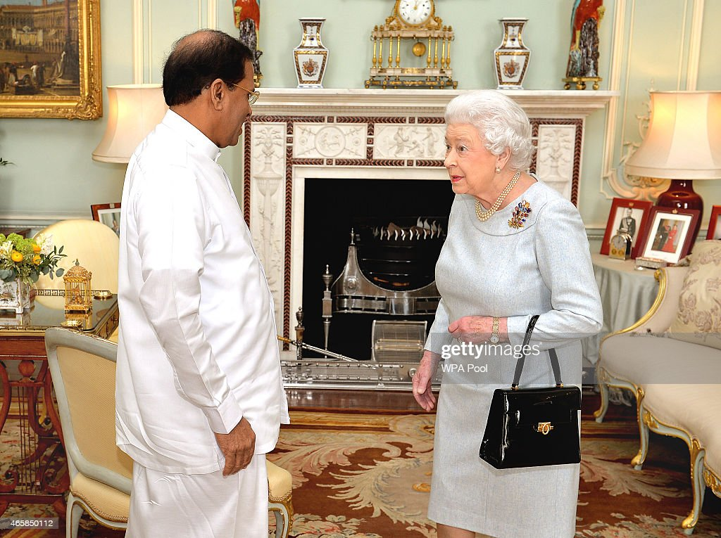 President of Sri Lanka Has Audience With The Queen : News Photo
