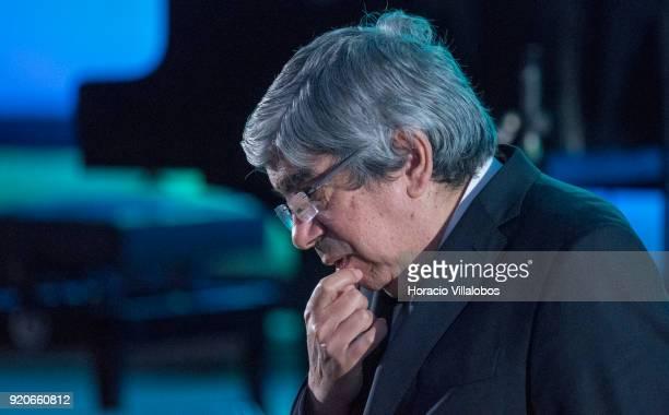 The President of the Assembleia da Republica Eduardo Ferro Rodrigues during the ceremony in which UN Secretary General Antonio Guterres receives the...