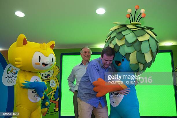 The President of the Brazilian Olympic Committee and head of the Rio 2016 Olympic Games Carlos Nuzman and the mayor of Rio de Janeiro Eduardo Paes...