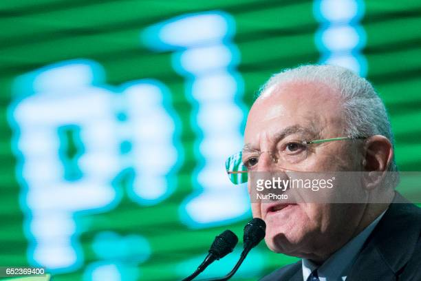 The President of the Campania Region Vincenzo De Luca speaks at Lingotto17 event to support Matteo Renzi He has been Mayor of Salerno for more than...