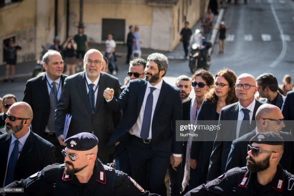 President of the Italian Chamber Roberto Fico At the Quirinale