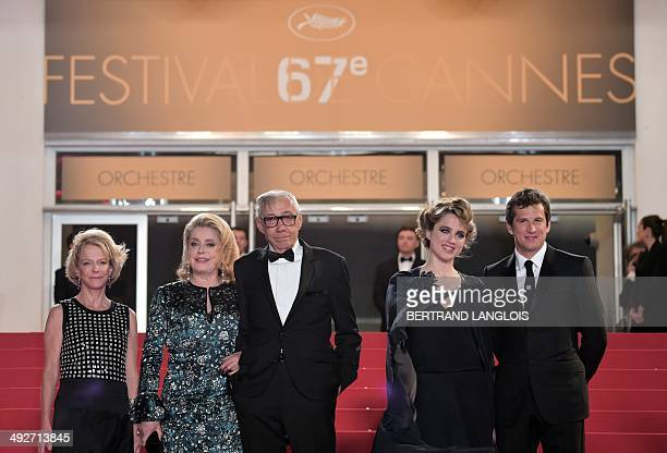The President of the CNC Frederique Bredin French actress Catherine Deneuve French director Andre Techine French actress Adele Haenel and French...