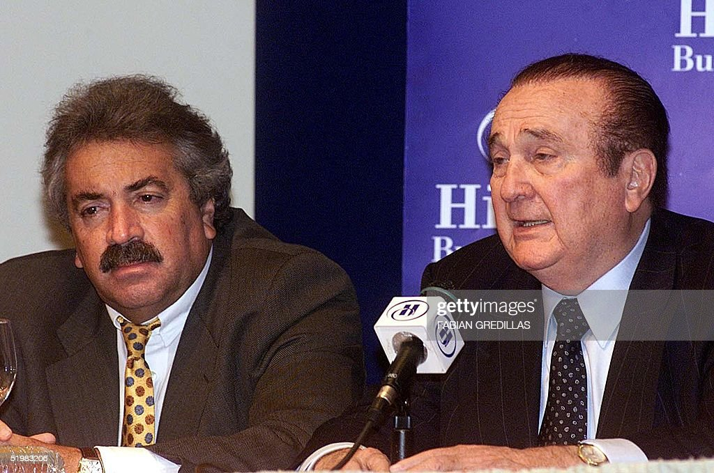 The President of the Colombian Soccer Federation, : News Photo