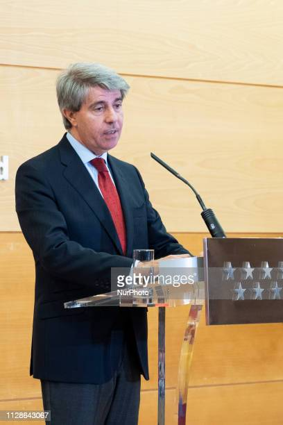 the president of the Community of Madrid Angel Garrido during press conference to take stock of the tenth autonomic legislature in the Real Madrid...