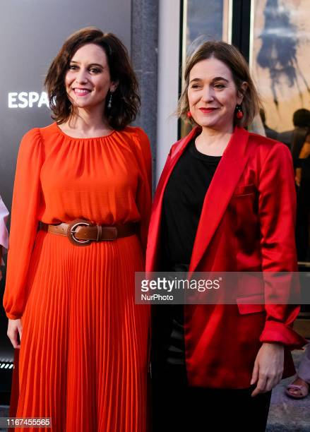 The president of the Community of Madrid Isabel Día Ayuso and Marta Rivera attends the inauguration of the Hotel Riu Plaza España in Madrid September...