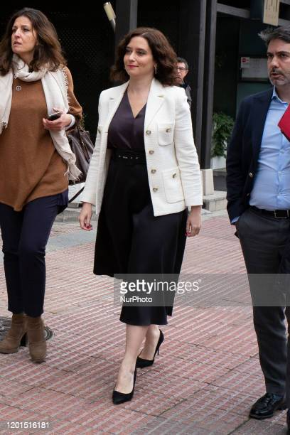 The president of the Community of Madrid Isabel Díaz Ayuso attends the inauguration of José Manuel Franco as the new Government delegate in Madrid...