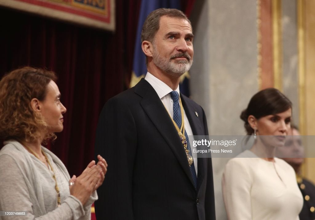 Spanish Royals Attend the 14th Legislative Sessions Opening : News Photo