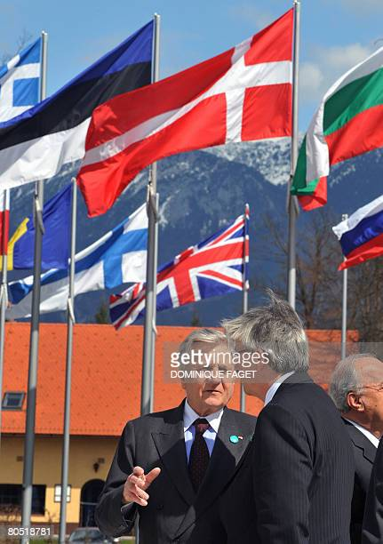 The President of the European Central Bank French Jean Claude Trichet and Luxembourg Prime Minister and President of the Eurogroup Jean-Claude...