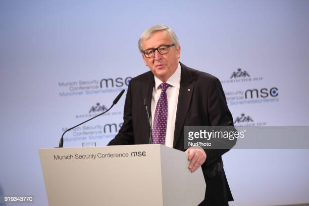 The president of the European Comission JeanClaude Juncker spoke at the Munich Security Conference