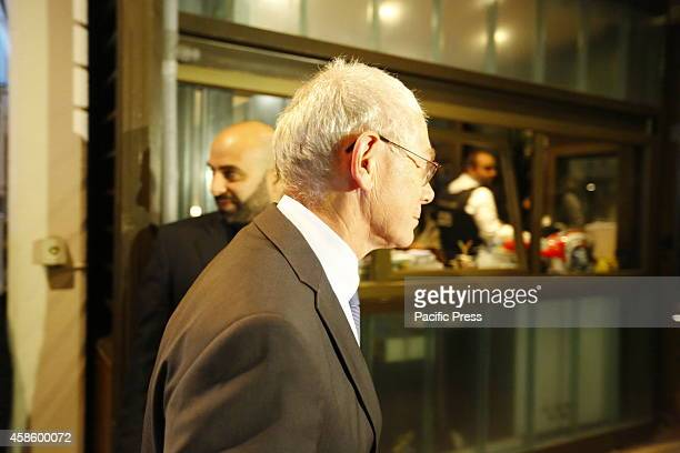 DATHèNES ATHENS ATTICA GREECE The President of the European Council Herman Van Rompuy arrives at the Institut français dAthènes The former Belgium...