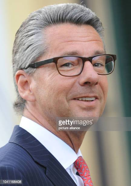 The president of the Federation of German Industry Ulrich Grillo pictured during the winter proceedings in Wildbad Kreuth Germany 08 January 2014...