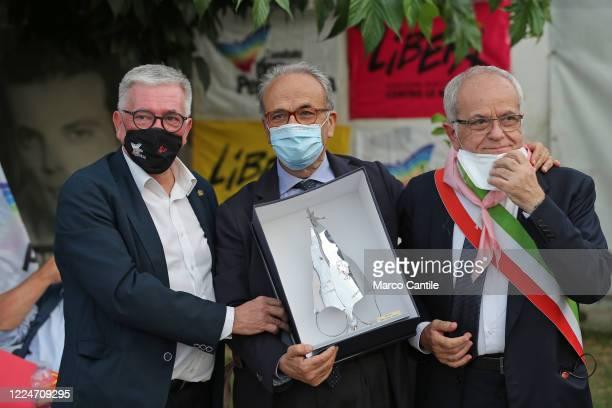 The President of the Foundation with the South, Carlo Borgomeo, receives the Don Diana National Award, organized by Casa don Diana, an anti-mafia...