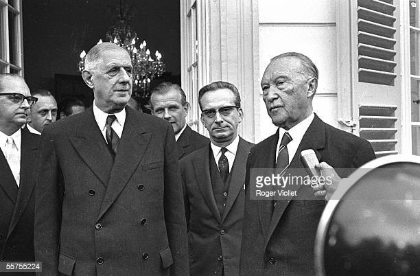 The president of the French Republic Charles de Gaulle and Konrad Adenauer chancellor of Germany Bonn May 1961 RV950518