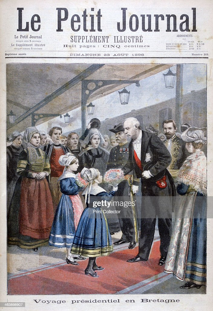 The President of the French Republic visiting Brittany, 1896. : News Photo