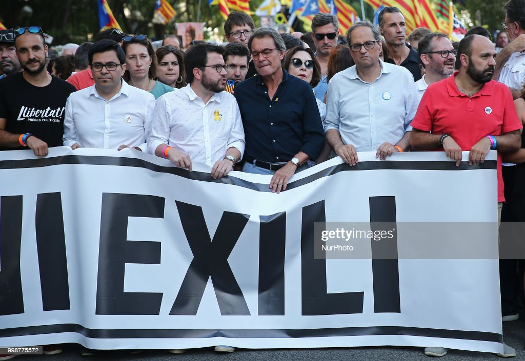 Demonstration Against Catalan Political Prisoners In Barcelona