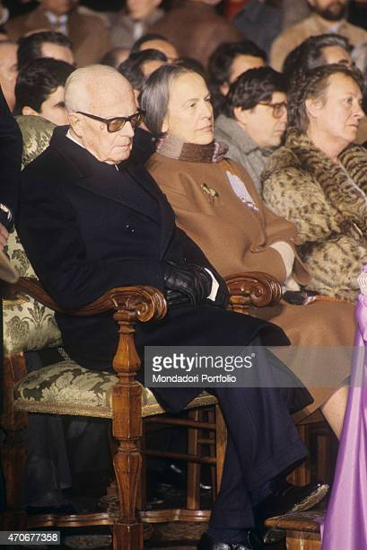 """""""The President of the Italian Republic Sandro Pertini and the President of the Chamber of Deputies of the Italian Republic Nilde Iotti attending the..."""
