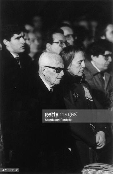 The President of the Italian Republic Sandro Pertini and the President of the Chamber of Deputies of the Italian Republic Nilde Iotti attending the...
