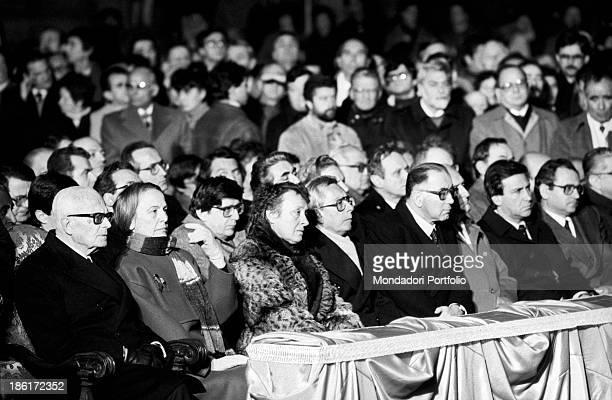 The President of the Italian Republic Sandro Pertini, the President of the Chamber of Deputies of the Italian Republic Nilde Iotti, the Vice...