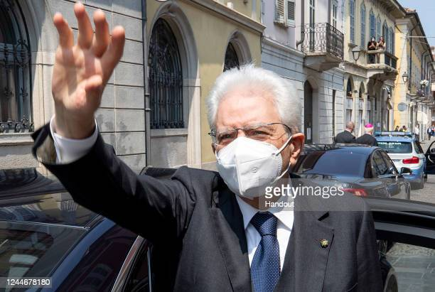The President of the Italian Republic Sergio Mattarella visits the city of Codogno on June 02, 2020 in Codogno, Italy. The President of the Italian...