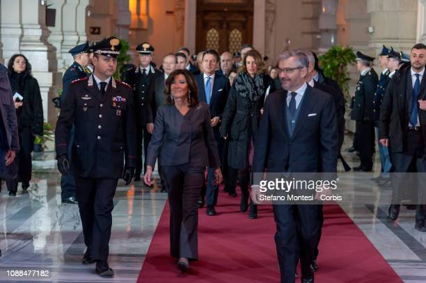 The President of the Italian Senate Maria Elisabetta Alberti Casellati during the opening General Assembly of the Supreme Court of Cassation for the...