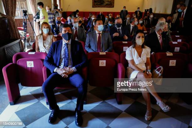 The president of the Parliament of Andalusia, Marta Bosquet and the vice-president of the Regional Government and Minister of Justice, Juan Marin ,...