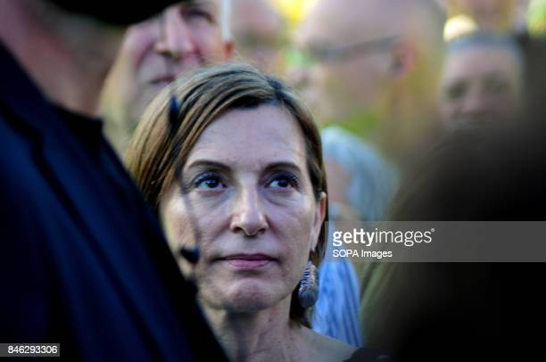 SQUARE BARCELONA CATALONIA SPAIN The President of the Parliament of Catalonia Carme Forcadell seen at the rally on the national day of Catalonia