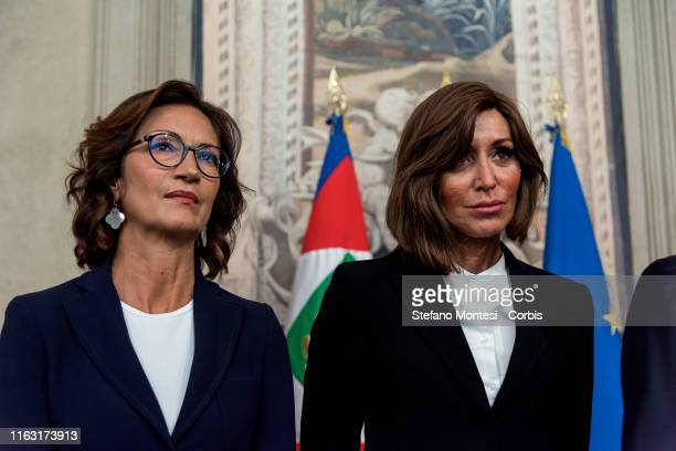 "The President of the Parliamentary Group of the Chamber of Deputies ""Forza Italia"" Mariastella Gelmini, President of the Parliamentary Group ""Forza..."