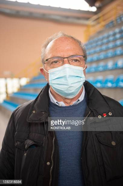 The President of the province of Cosenza, Franco Iacucci, during the inauguration of the Regional Vaccinal Hub for vaccinations in the Calabria...