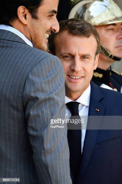 The President of the Republic Emmanuel Macron received His Highness Sheikh Tamim bin Hamad Al Thani Emir of the State of Qatar at the Elysée Palace...