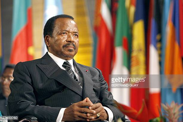 The President of the Republic of Cameroon, Paul Biya, attends the 34th session of the general conference of Unesco, 23 October 2007 in Paris. AFP...