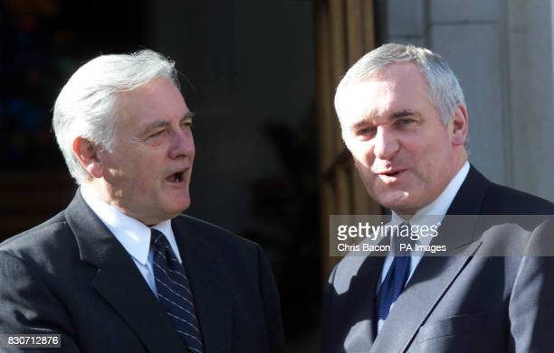 The President of the Republic of Lithuania Valdas Adamkus with Irish Prime Minister Bertie Ahern in Dublin President Adamkus is on a three day State...