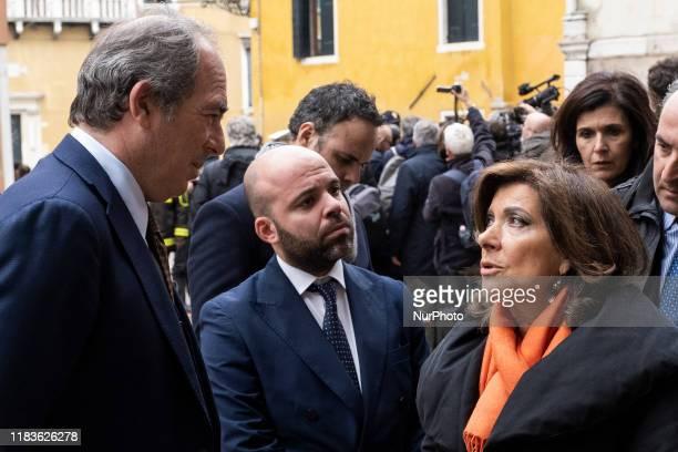 The President of the Senate of the Republic Maria Elisabetta Alberti Casellati visits Venice after the flood Venice Italy November 16 2019