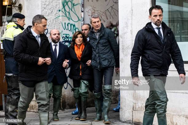 The President of the Senate of the Republic Maria Elisabetta Alberti Casellati visits Venice with the President of the Union Antonio de Poli Center...