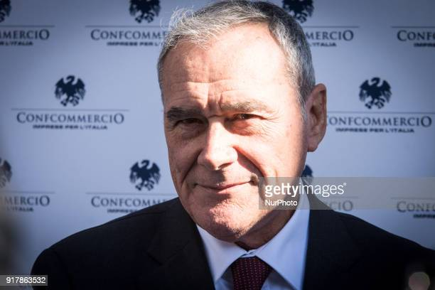 The President of the Senate Pietro Grasso and LeU leader at the meeting organized by Confcommercion view of the general elections to be held on 4...