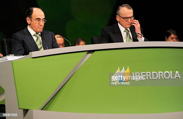 The president of the Spanish power company Iberdrola Jose Ignacio Sanchez Galan takes part during Iberdrola's shareholders general meeting on March...