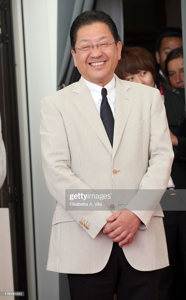 The president of the Studio Ghibli Koji Hoshino attends 'The Wind Rises' Photocall during the 70th Venice International Film Festival at the Palazzo del Casino on September 1, 2013 in Venice, Italy.