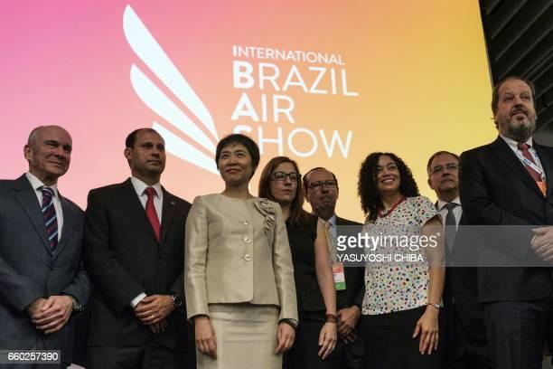 The president of the Tom Jobim international airport Luiz Rocha Fang Liu of the International Civil Aviation Organization and US Ambassador to Brazil...