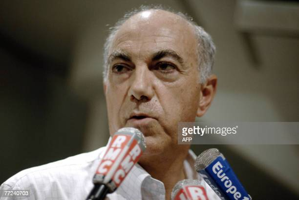 The President of the toy maker SmobyMajorette company Alain Rouas answers to the press 09 October 2007 in LavanslesSaintClaude French Jura Eastern...