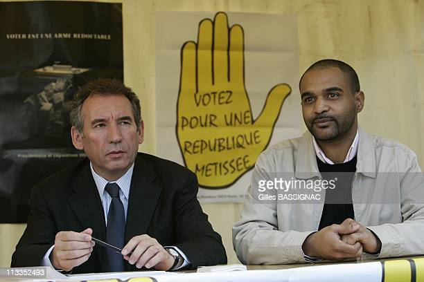 The President Of The Udf And Presidential Candidate Francois Bayrou Attends A Conference In The City Of 4000 According To The Invitation Of The Sos...