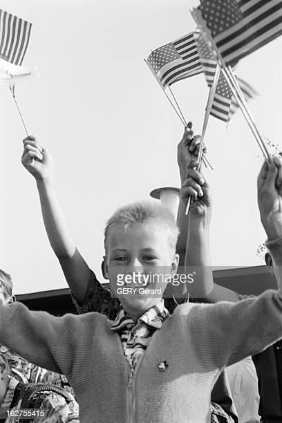 The President Of The United States Dwight David Eisenhower In Germany En Aout 1959 à l'occasion d'un voyage officiel en ALLEMAGNE du président des...