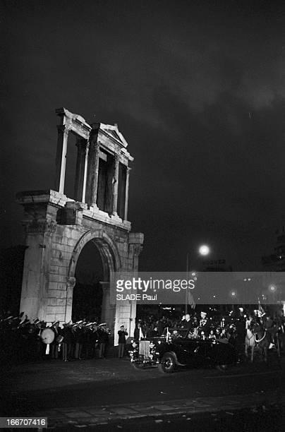 The President Of The United States Dwight David Eisenhower In Greece En décembre 1959 à l'occasion d'un voyage officiel en Grece le président des...