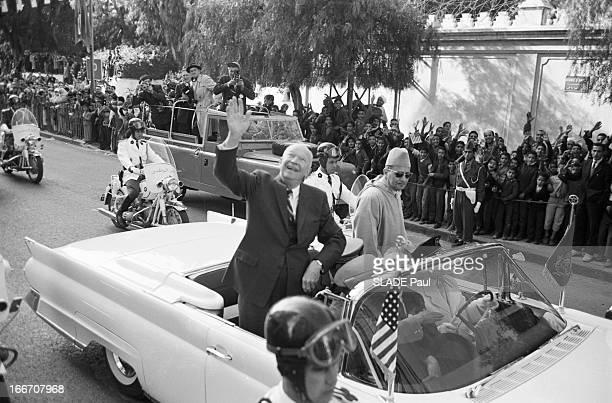 The President Of The United States Dwight David Eisenhower In Morocco En décembre 1959 à l'occasion d'un voyage officiel au Maroc le président des...