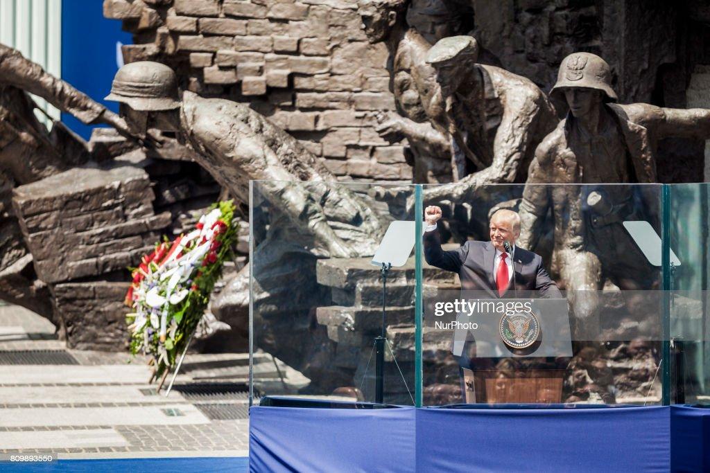 US President Donald Trump Visits Poland : News Photo