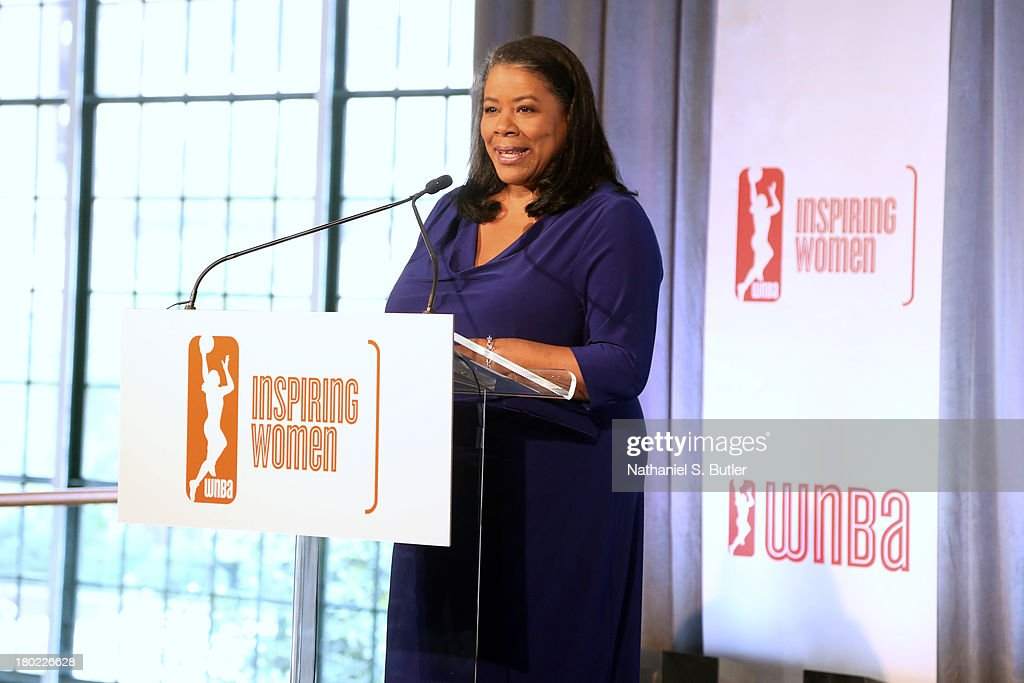 The President of the WNBA, Laurel Richie speaks at the 2013 WNBA Inspiring Women's Luncheon in New York City.
