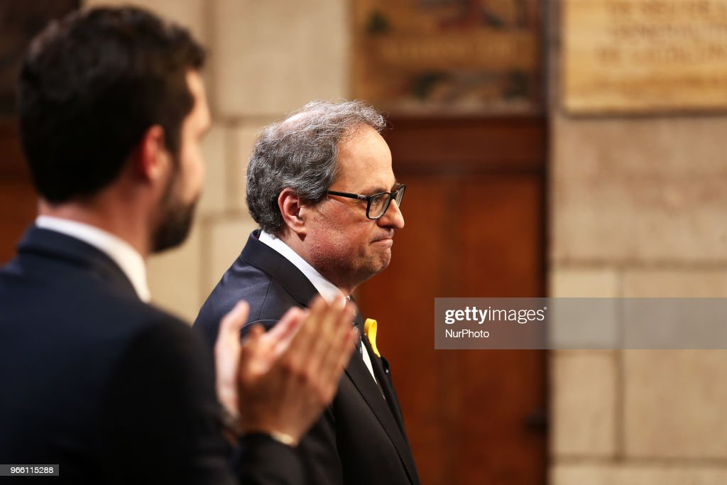 Swearing-in Ceremony Of New Government Of Catalonia