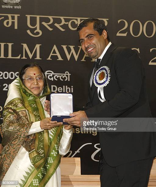 The President Smt Pratibha Devisingh Patil today conferred the 55th National Film Awards for 2007 to the illustrious winners Producer Shailendra...